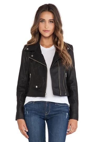 fall shopping - OBEY Savages real leather jacket