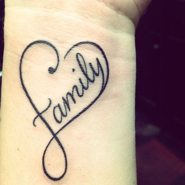 Sweet Faith And Family Infinity Tattoo Ideas On Wrist Tattoo ...