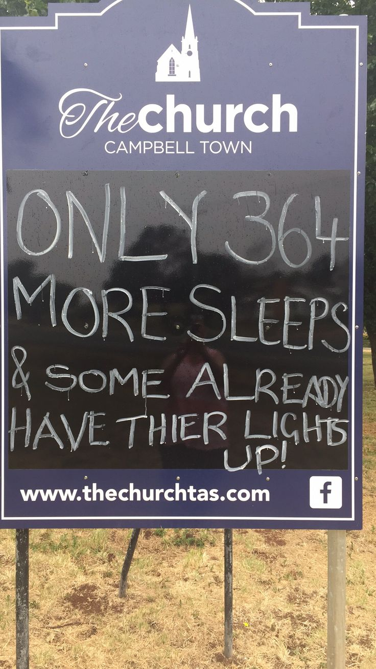 Christmas sign: Only 354 sleeps & some already have their lights up