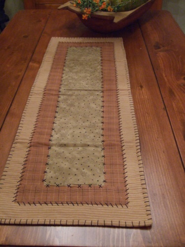 "Primitive Country Fall Thanksgiving Halloween Table Runner 39"" x 14"" 