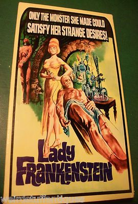 "vintage VHS movie ""Lady Frankenstein"" w/Sarah Bay 1996 Alpha Video"