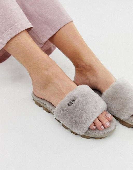 53039b0e2ec UGG Cozette slide slippers in oyster in 2019 | Shoes Diary | Uggs ...