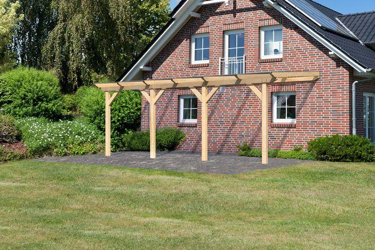 Decouvrez cette Pergola Auvent en Bois 576 × 273 cm (14.73m2) avec Toit en PVC M2TC a prix reduit ! - LeKingStore