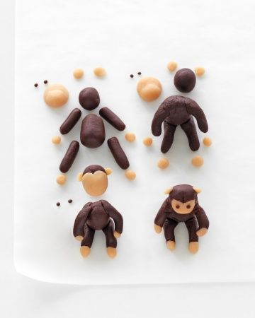 How To Make Marzipan Monkey Cake Toppers | Martha Stewart - wonder if it will work with fimo?
