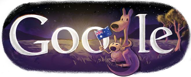 Australia Day 2013 google doodle pictures, images
