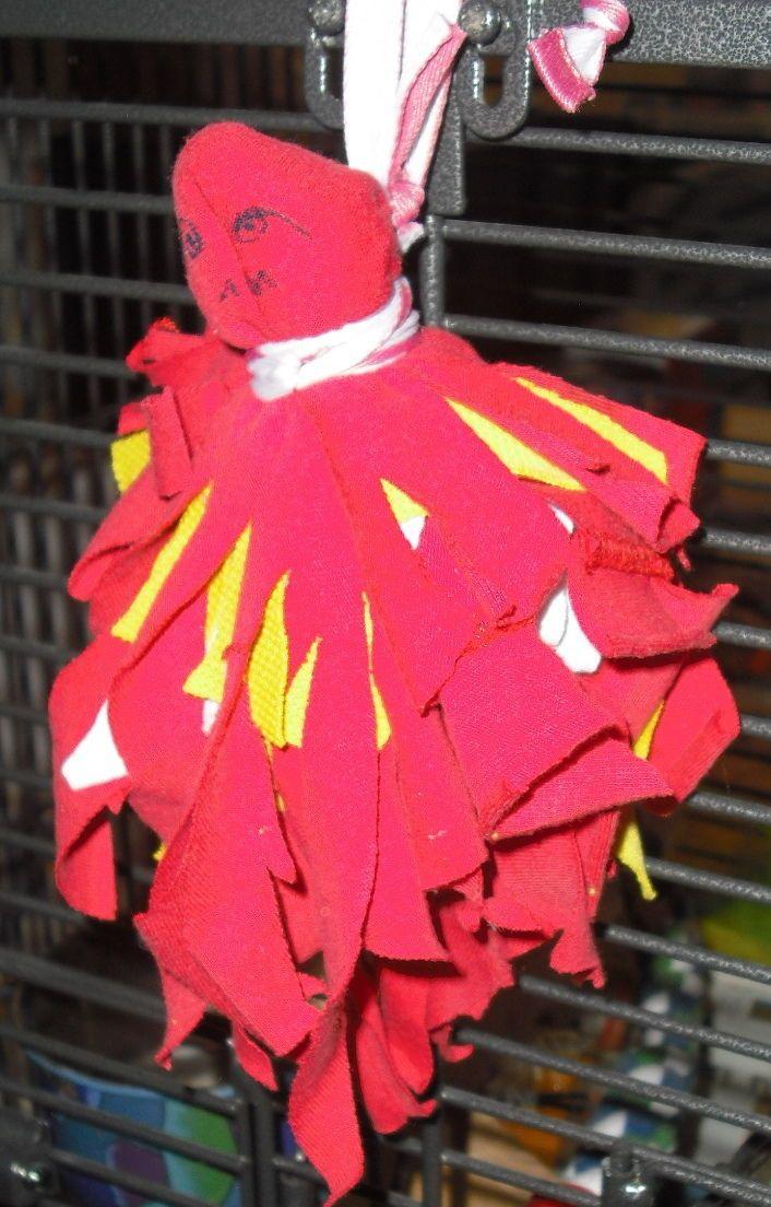 """Vogelspielzeug Papageienspielzeug Sittichspielzeug GEIST """"Lumpi"""" 3 only by Yogi in Haustierbedarf, Vögel, Spielzeug   eBay!"""