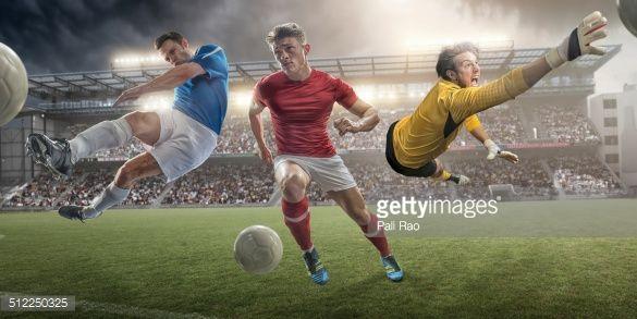 Stock Photo : Football Heroes