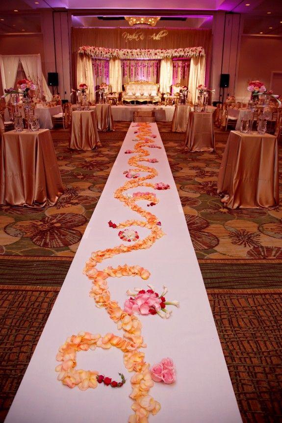 """Gorgeous Muslim Wedding by Carrie Wildes 27 Perfect Muslim Wedding"" Beautiful aisle decor!"