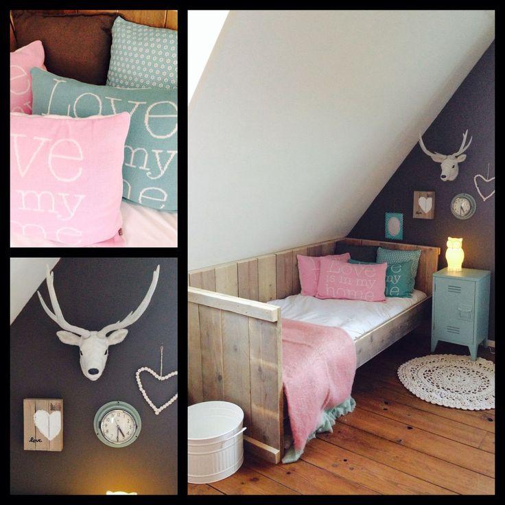 De 25 populairste idee n over meisjes slaapkamer - Slaapkamer tiener meisje ...