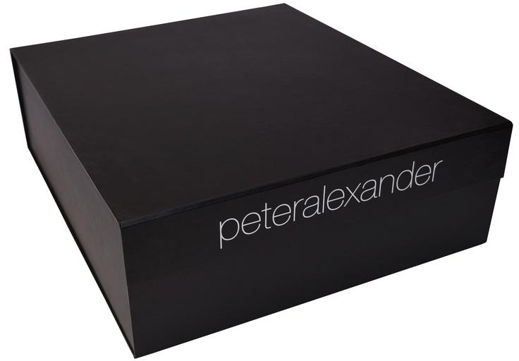 Peter Alexander Matte Black Flat Pack Gift Box