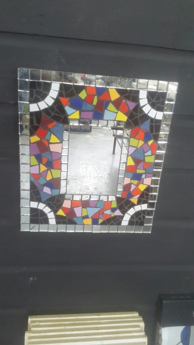 Mosaic mirror by Dish Studio