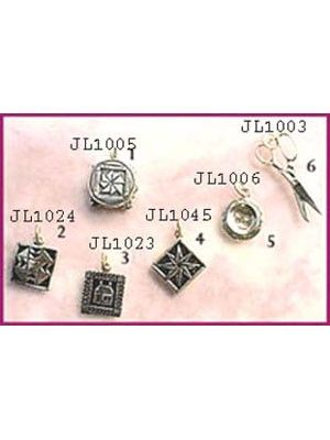 ON CLEARANCE! All are handmade in solid sterling silver. Block charms are designed after quilt block patterns plus there is a collection of quilting and sewing related accessories. Arrives in carded. Enjoy these yourself, and they make excellent gifts for your friends. Sterling Silver Charm You can add your favourite charms to the pins, ear-rings, necklace, or bracelet. #jewelry #sterlingsilver #quilting #charms #shopthelink #notions #supplies #wholesale #b2b #onsale #promotion