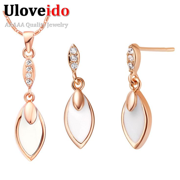 Find More Jewelry Sets Information About New Water Drop Enamel 925 Silver Party Pendant Necklace Earrings Parure Bijou For Women Feminino Off