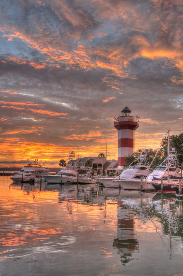Harbour Town Lighthouse on Hilton Head Island, SC