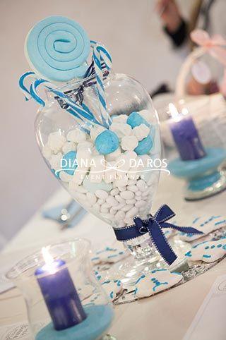 centrotavola-marshmallows-e-confetti by Diana Da Ros Event Planner - Candies babyblue centerpiece