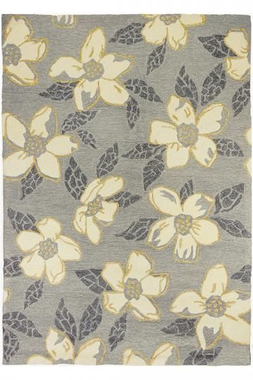 Dogwood Area Rug - Outdoor Rugs - Floral Rugs - Hand-hooked Rugs - Transitional Rugs - Synthetic Rugs   HomeDecorators.com