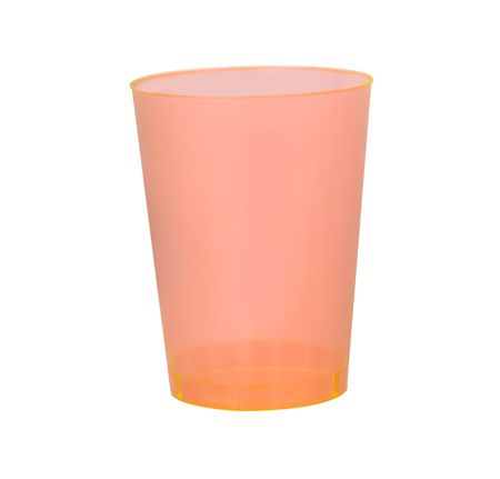 Elegant disposable Plastic Orange 10 oz. Tumblers are ideal for weddings and fancy events. Match  these bowls with our elegant designer paper napkins. Get all you fancy and pretty discounted party supplies at www.poshpartysupplies.com.
