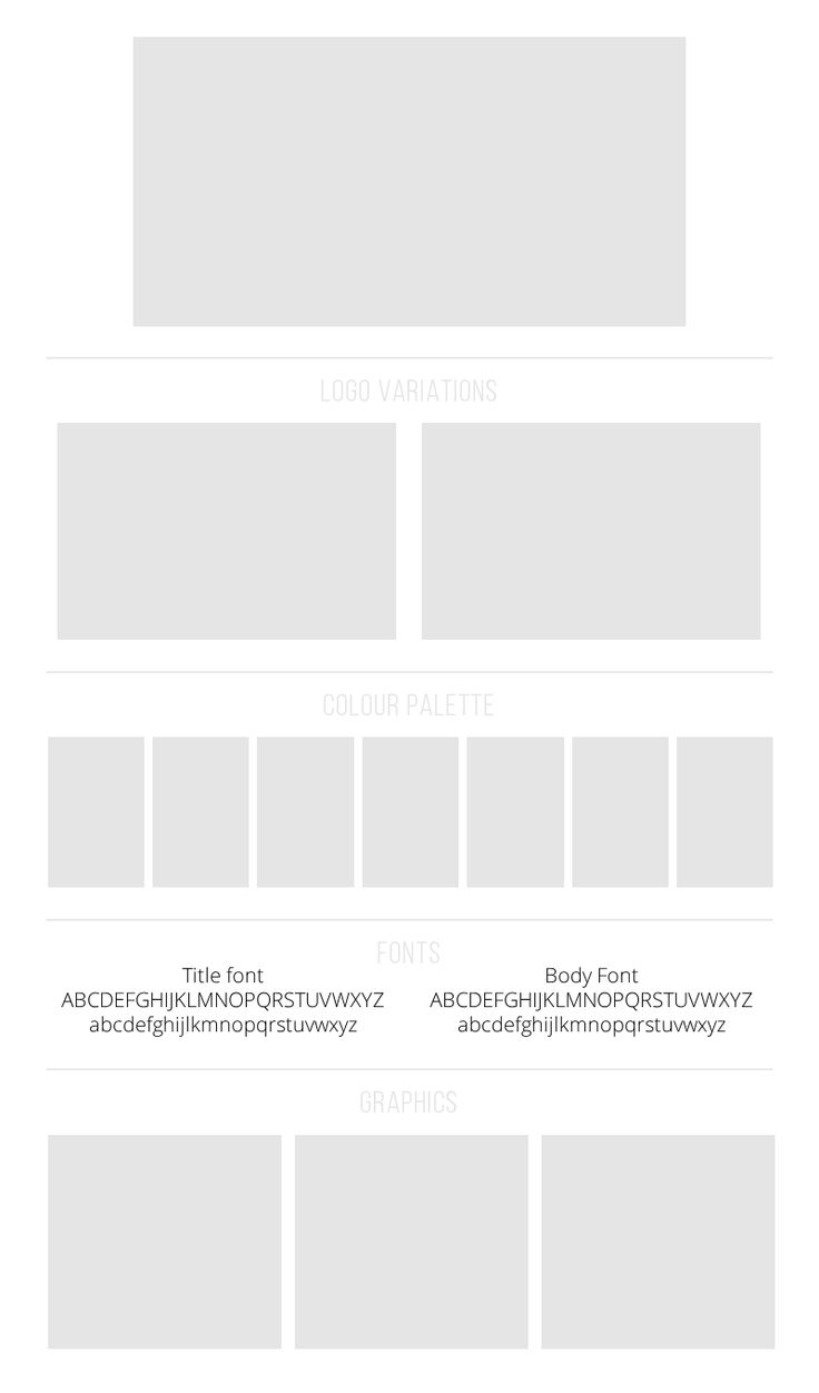 Every good brand design should have a brand board - here's an easy to use photoshop template to help you create a gorgeous one and be proud of your design.