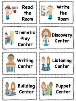 Center Signs. Organize your center board with these center signs! Two sizes. FREE customization  and Canadian spelling available.