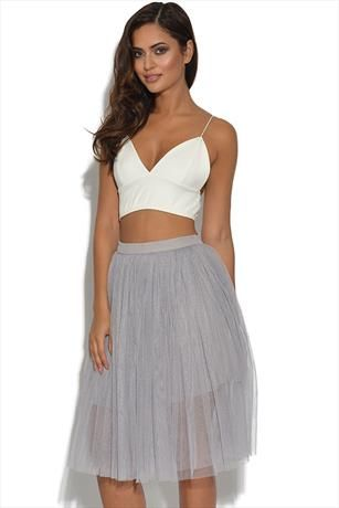 Just had to pin this Lydia Rose Bright Lilac Grey Tulle Ballerina Midi Skirt from www.vestry.com/
