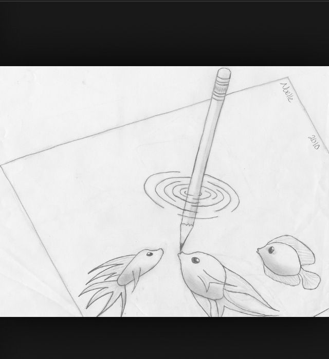 Drawing ideas that are so cute look at the little fishies!!!!!!!