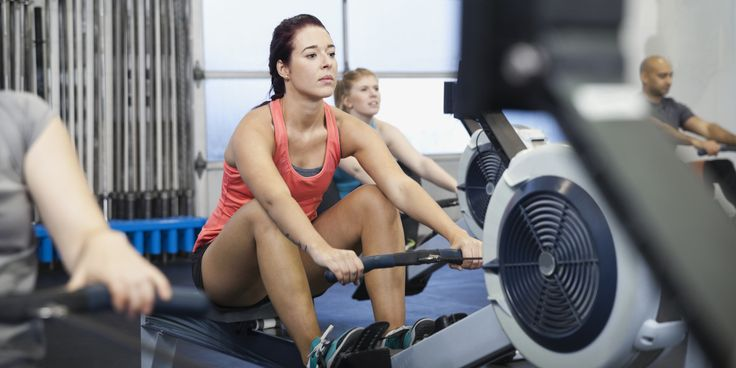 """By Alex Orlov for Life by DailyBurn  Not sure how to work out on a rowing machine without looking like a total fish out of water? It's easy to make mistakes when using a rower, officially known as an """"ergometer,"""" the first couple of times..."""