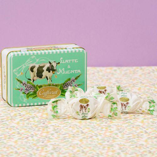 カファレルの中でも伝統的なレシピで作られたハードキャンディ。【Caffarel カファレル】 ラッテメンタ缶 キャンディ