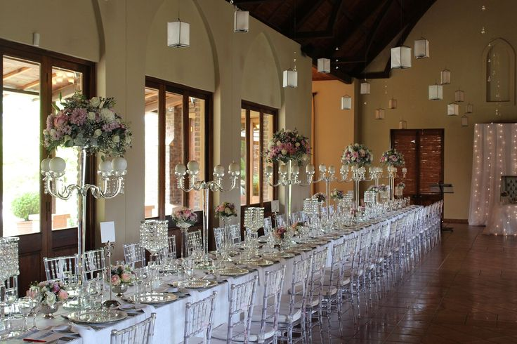 Elegant lanterns added to complete the look