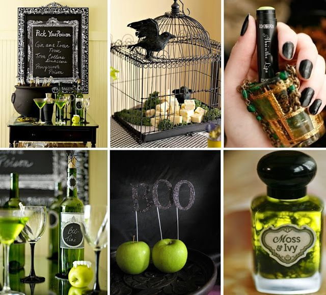 fabulous green black halloween ideas must have cauldron full of ice and cold