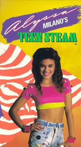 """Alyssa Milano's TEEN STEAM """"Workout"""" video. HAHA! I totally had it and watched it... while eating chips. ;P"""