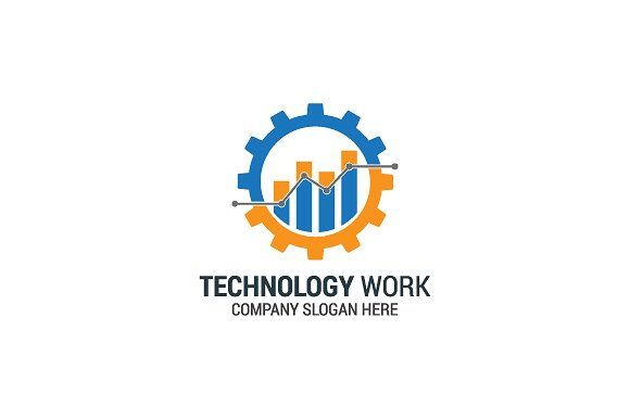 Technology Gear Logo Templates Modern Technology Gear.100 vector and editable.Files: Eps & Psd. by maestro99