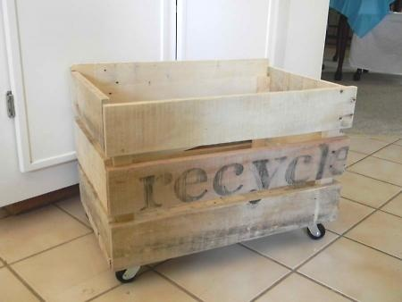 recycling bin made out of pallets