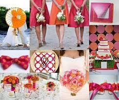 orange and cerise pink wedding - Google Search