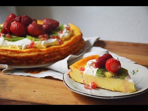Tarta de Queso con fruta - Receta de Cheesecake con horno