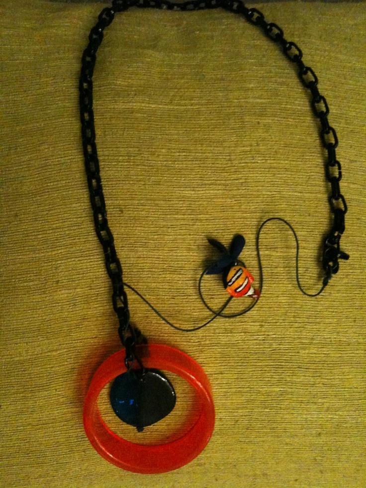 plexiglass long necklace