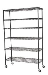6-Tier Wire Shelving Unit from Sandusky Powder Coated Wire Rack Shelving Unit, Casters, 6 Shelves are adjustable and are reinforced with wire trusses and struts for strength. Open wire design offe...