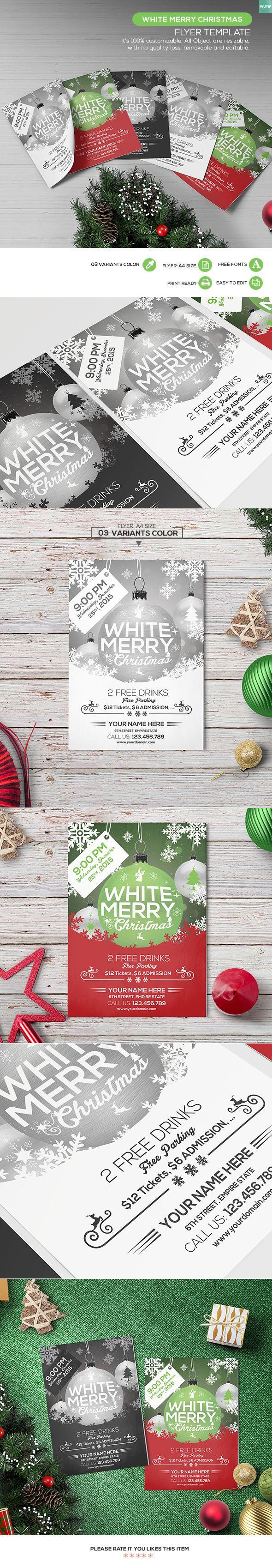 company christmas party invitation templates%0A FREE  u     Christmas Party Flyer Template on Behance
