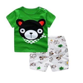 จัดเลย  Summer Baby Boy Girl Clothing Sets Short Top + Pants 2pcs/setCartoon Sport Suit Baby Clothing Set Newborn Infant Clothing - Bear- intl  ราคาเพียง  194 บาท  เท่านั้น คุณสมบัติ มีดังนี้ Number of packages: twopieces Suitable for age: infants andyoung children (1 to 3 years old, 80 ~ 100cm) For the season: Summer Applicable to the scene: birthday,daily 100% cotton soft and comfortable
