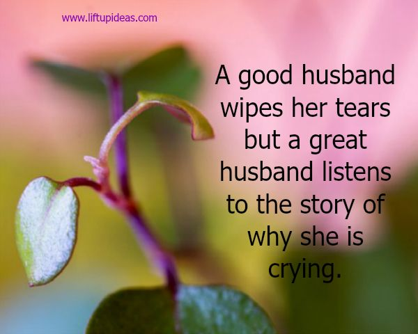 Husbands who listen their wives have better marriages