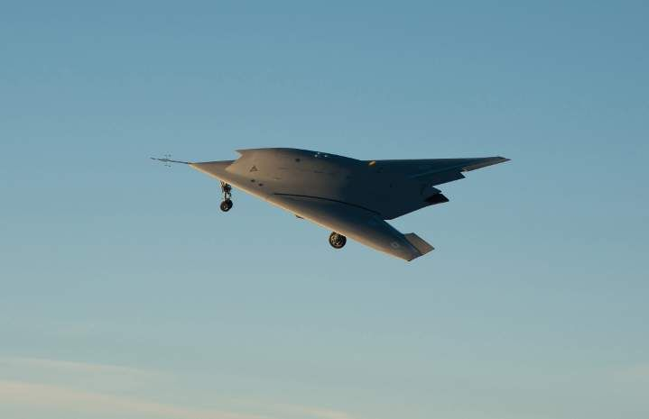 The prototype of a European combat drone, known as Neuron, flies above a military airport in France in 2012. R. Michelin/AFP/Getty Images  Michael Byers: The fighter jets of tomorrow | National Post