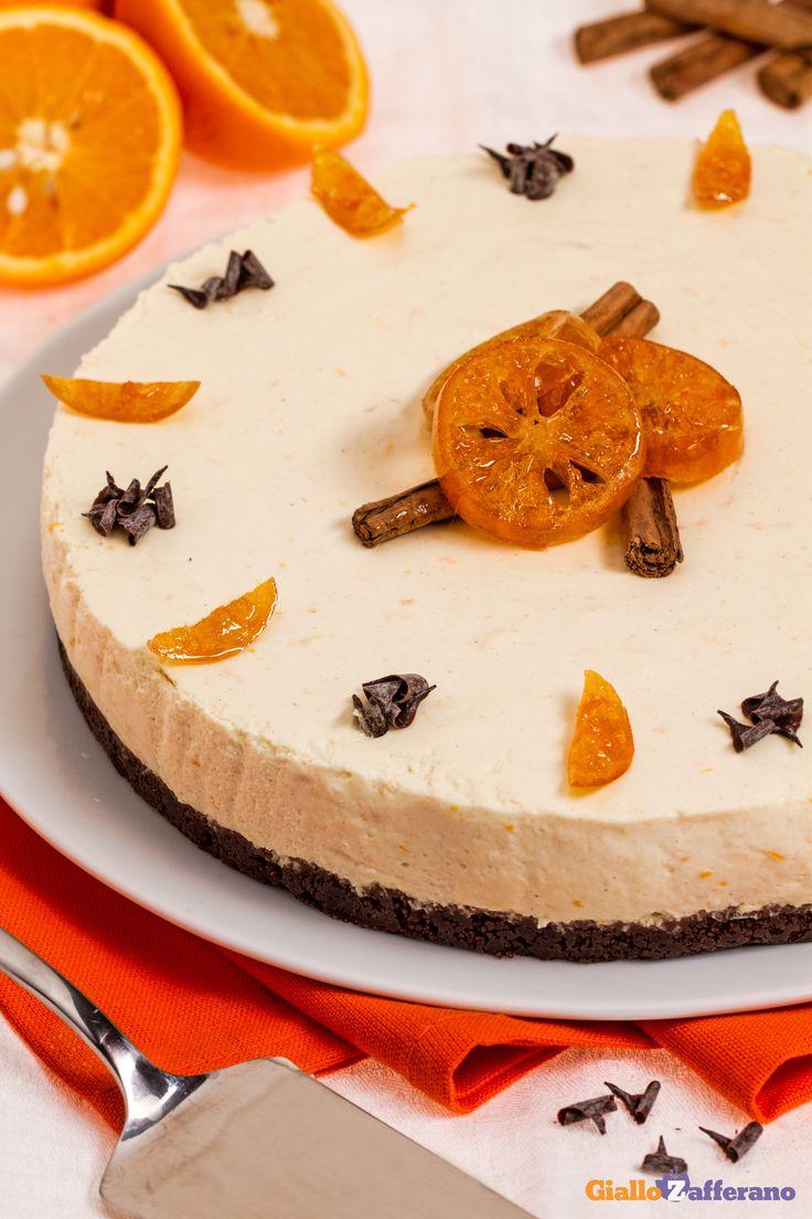 La #CHEESECAKE ARANCIA E CANNELLA (orange cinnamon cheesecake) è una variante che accosta il profumo della spezia più dolce alla nota acida dell'agrume. #ricetta #GialloZafferano