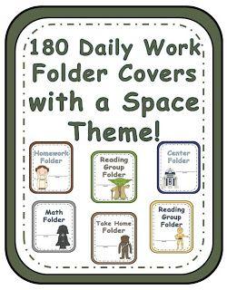 Fern Smith's Classroom Ideas!: Space Themed Daily Work Folders!