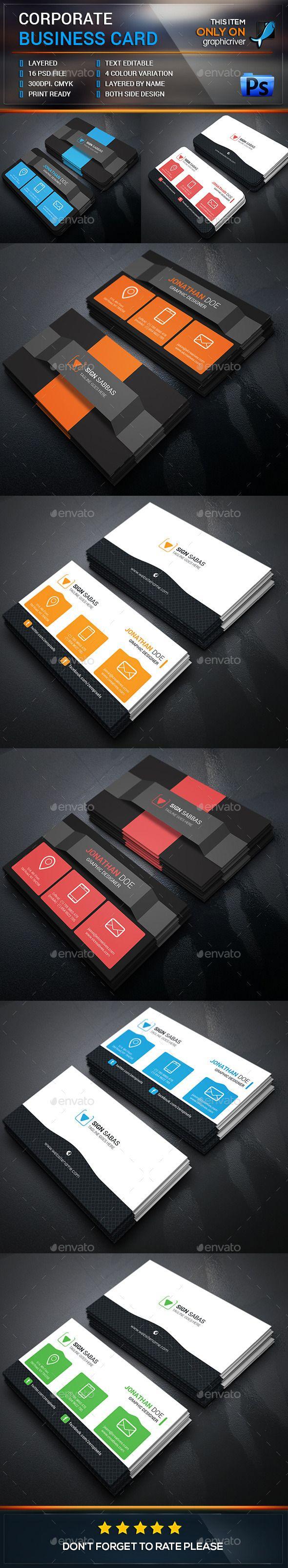 Business Card Template Bundle #design Download: http://graphicriver.net/item/business-card-bundle/12761271?ref=ksioks