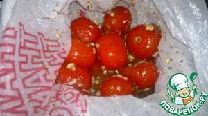 Соленые помидоры быстрые, в пакете