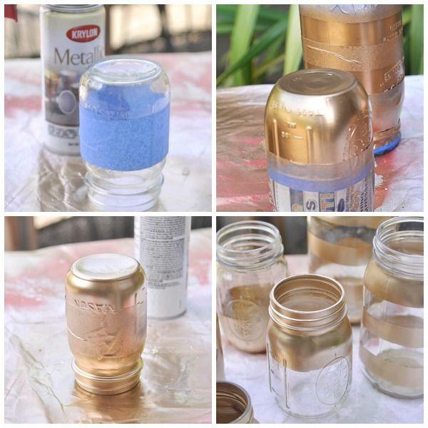 mason jars on pinterest glitter mason jars gold glitter mason jar. Black Bedroom Furniture Sets. Home Design Ideas