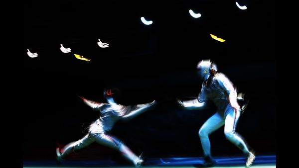 : Chieko Sugawara of Japan competes against Sophie Troiano of Great Britain in the Women's Foil Team Fencing placement 7-8 on Day 6 of the London 2012 Olympic Games at ExCeL on August 2, 2012 in London, England. (Photo by Hannah Johnston/Getty Images)