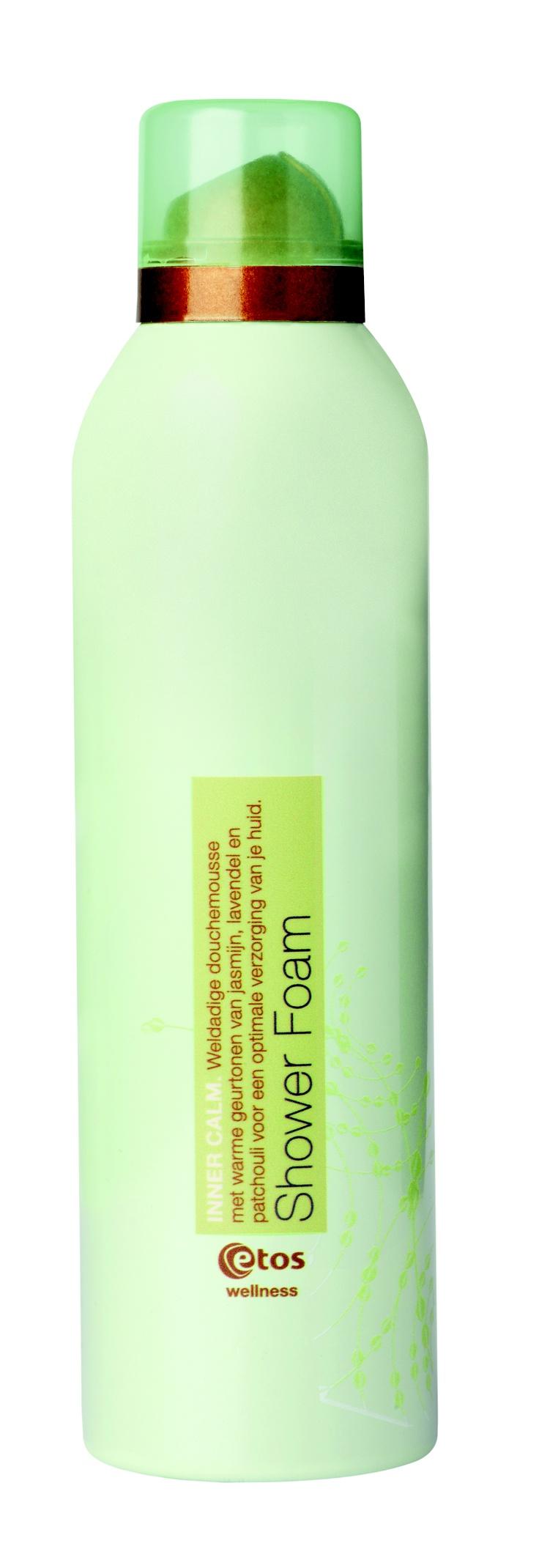 Weldadige douchemousse met warme geurtonen van jasmijn, lavendel en patchouli voor een optimale verzorging van je huid. Etos Wellness Inner Calm Shower Foam, 200 ml - € 4.99