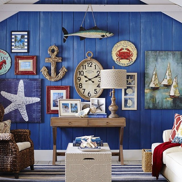 Fishing For Wall Decor Ideas Give Your Wall A New Wardrobe With The Nautical Look Pier1 Shop Our F In 2020 Nautical Wall Decor Nautical Wall Pier One Wall Decor #pier #one #living #room