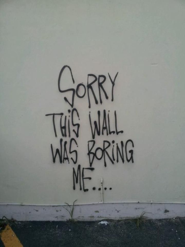 too many boring walls around me