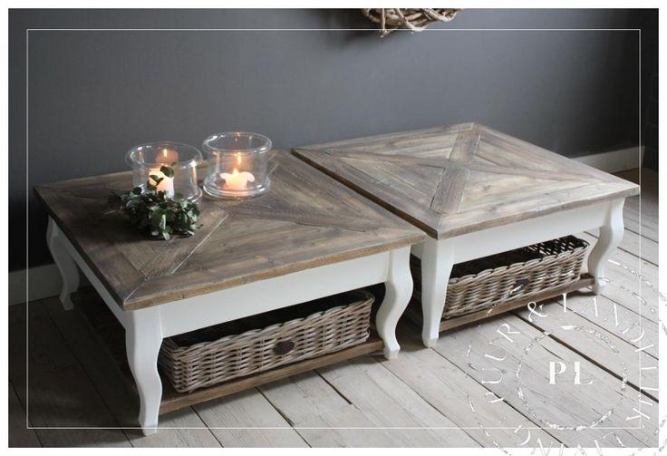 Maatwerk / landelijke salontafel / SUBLIEM / old wood | 》Landelijke salontafels | Puur & Landelijk Living